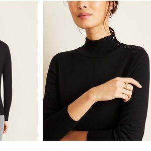 NWT Ann Taylor Olive Green Turtleneck Sweater